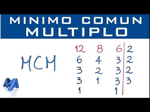 Mínimo común múltiplo MCM explicación completa