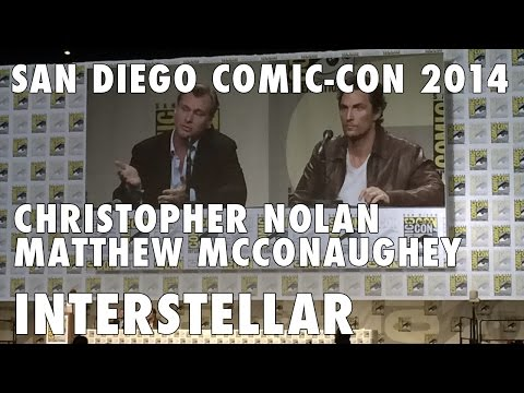 christopher - http://www.badtaste.it/san-diego-comic-con/ Christopher Nolan & Matthew McConaughey surprise appeareance at Paramount Pictures panel introducing Interstellar @ San Diego Comic-Con 2014.