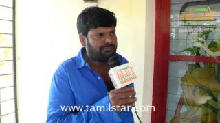 Ganja Karuppu at Maharani Kottai Movie Shooting Spot