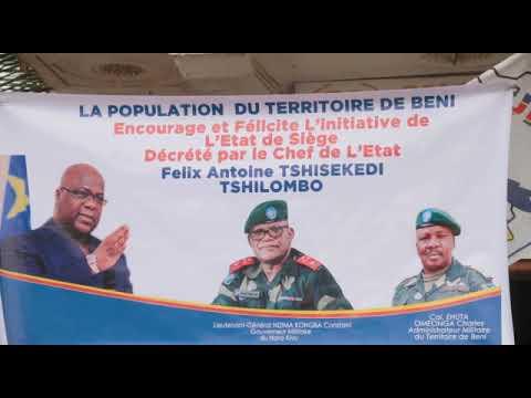 LANCEMENT DE LA CONSTRUCTION  DE LA ROUTE KASINDI- BENI, BENI BUTEMBO PAR LE PRESIDENT FELIX ET YOWERI MUSEVENI A MPONDWE