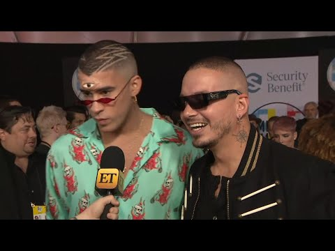 Video AMAs 2018: Why J Balvin and Bad Bunny Are 'So Grateful' for Cardi B (Exclusive) download in MP3, 3GP, MP4, WEBM, AVI, FLV January 2017