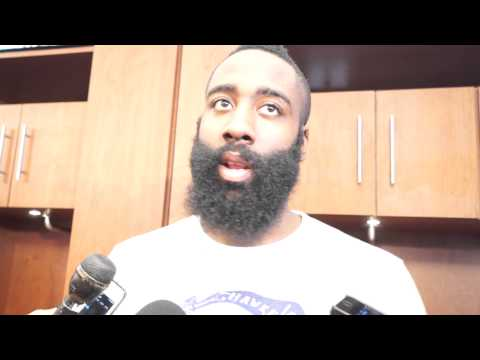 James Harden after the Rockets beat the Magic 98-88