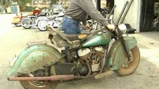 Video 1948 Indian Chief motorcycle comes back to life after 40 years MP3, 3GP, MP4, WEBM, AVI, FLV Agustus 2018