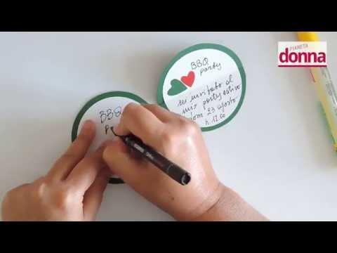 come fare degli inviti a forma di anguria - tutorial