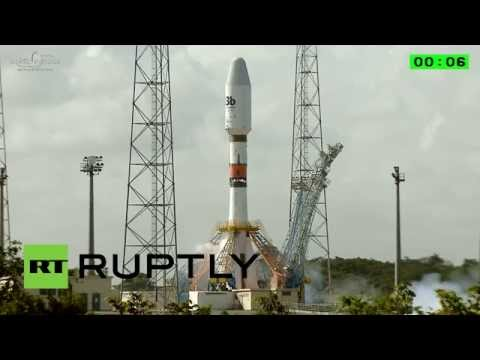 rocket - The commercial arm of the European Space Agency, Arianespace, successfully launched a Soyuz ST-B rocket carrying four satellites from the Guiana Space Centre near Kourou, French Guiana on ...