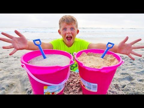 DIY Edible Sand vs Real Sand Prank!! (видео)