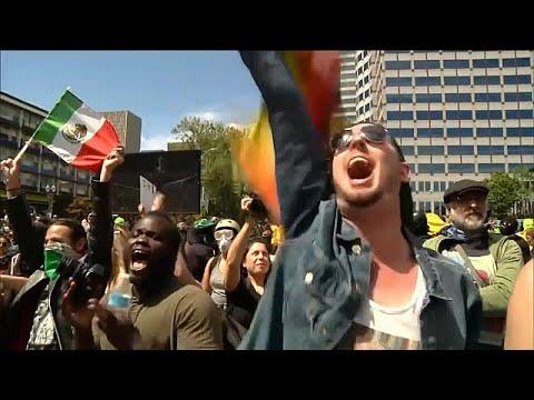 ΗΠΑ: Συγκρούσεις δεξιών και αντιφασιστών διαδηλωτών