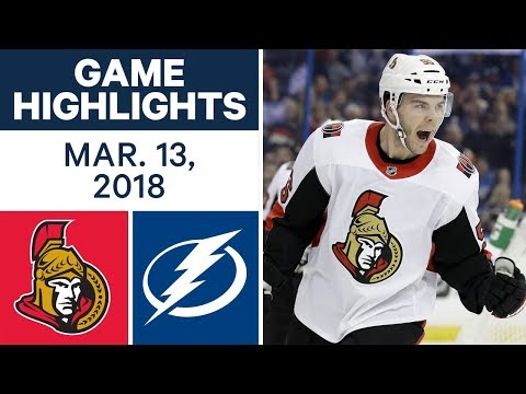 Video: NHL Game Highlights | Senators vs. Lightning - Mar. 13, 2018