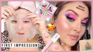 testing NEW makeup! 😱 COLOURFUL full face of first impressions by Shaaanxo