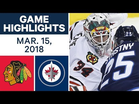 Video: NHL Game Highlights | Blackhawks vs. Jets - Mar. 15, 2018