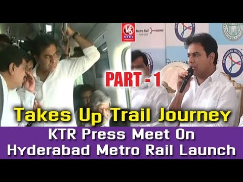 KTR Press Meet On Hyderabad Metro Rail Launch | Part 1