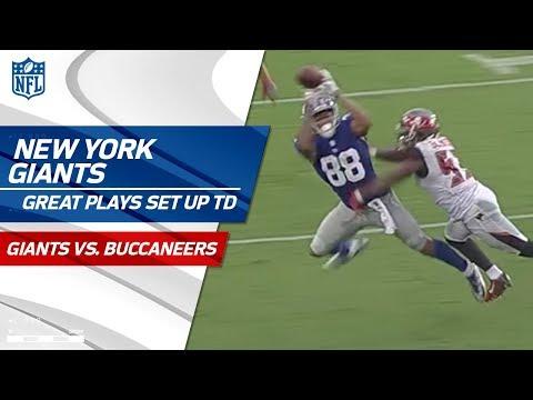 Video: Beckham & Engram's Huge Catches Set Up Manning's Go-Ahead TD Pass! | Giants vs. Bucs | NFL Wk 4