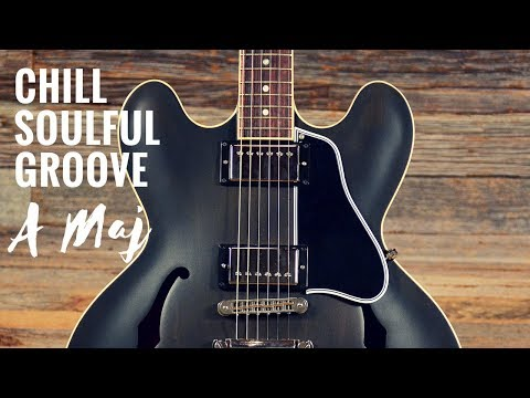 Chill Soulful Groove | Guitar Backing Track Jam In A