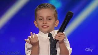 Video Youngest America's Got Talent Comedian | Nathan Bockstahler | Full Audition & Performances MP3, 3GP, MP4, WEBM, AVI, FLV Januari 2019