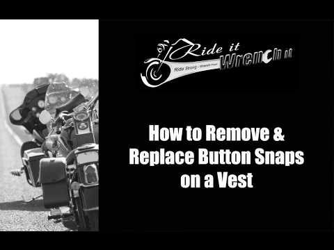 how to put a snap button on a jacket