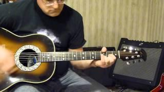 Using my 1983 Ovation Custom Balladeer totally acoustic. This one is in Drop D tuning. Don't forget to watch in HD for the best audio/video quality. THE USE OF ...