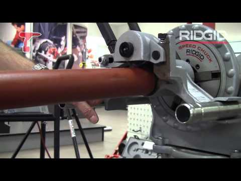 How Roll a Groove in a Pipe using RIDGID 916 and 300 tools