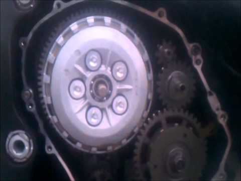 How to repair replace a scratched Honda CBR 600 1000 clutch cover engine cover