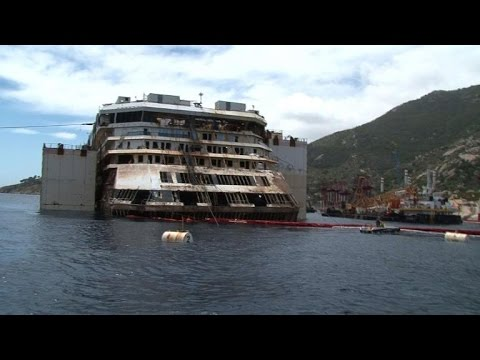 View - Passengers who survived the Costa Concordia Cruise ship accident visit the shipwreck in the midst of the lifting operation. Duration: 00:52.