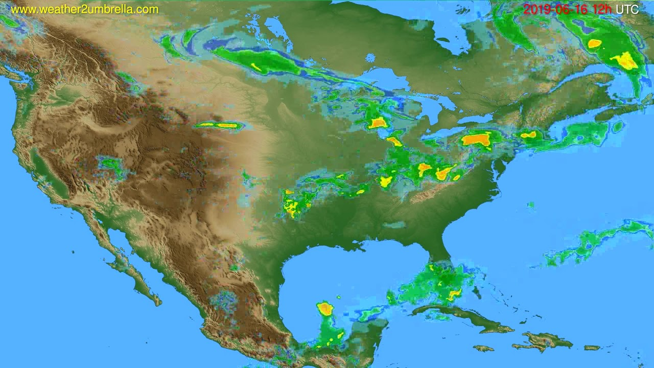Radar forecast USA & Canada // modelrun: 00h UTC 2019-06-16