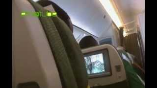 Ethiopian National Team Player Adane Girma Watching Nigerian Movie On A Flight To South Africa.flv