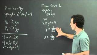 Lagrange Multipliers | MIT 18.02SC Multivariable Calculus, Fall 2010