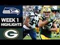 Seahawks vs Packers | NFL Week 1 Game Highlights