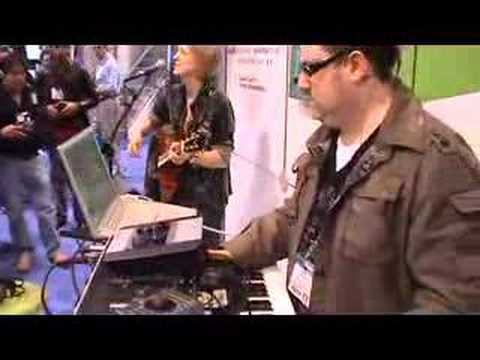 Laura Clapp & Robbie Bronnimann playing live TC electronic Computer Recording gear at the Namm Show 2008