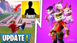 *NEW* Fortnite Update! | 6 Free Items in 5 Mins, All Secret Skins, Event Sounds!