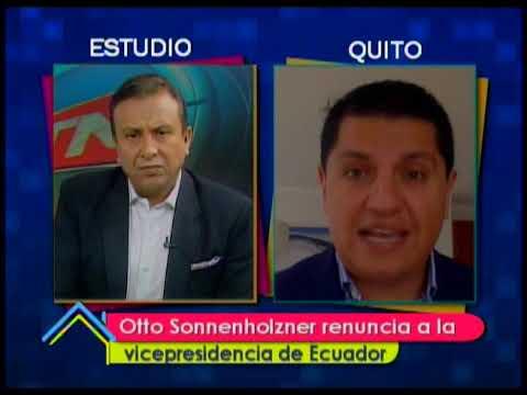 Otto Sonnenholzner renuncia a la vicepresidencia de Ecuador