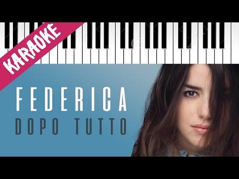 , title : 'Federica Carta | Dopotutto | AMICI 16 | Piano Karaoke con Testo'
