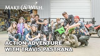 8-year-old Kouper of Make-A-Wish Iowa is battling cancer. Kouper's one true wish was to meet his hero, Travis Pastrana. Thanks...