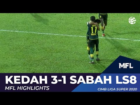 KEDAH 3-1 SABAH LS8 | MFL HIGHLIGHTS 2020
