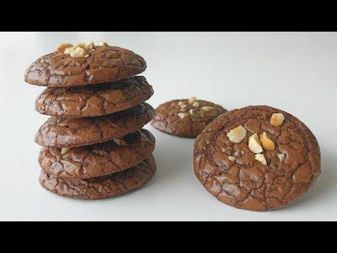 Brownies Cookies Recipe   Resepi Biskut Raya Brownies