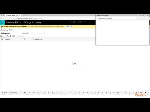 Microsoft Dynamics 365 Customer Engagement Administration : Assigning User Roles    packtpub.com