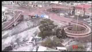 Okawa-shi Japan  City new picture : New Tsunami images in Kesennuma city, ascending the Okawa river