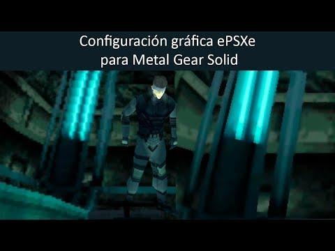 Opciones gráficas ePSXe para emular Metal Gear Solid (Playstation)