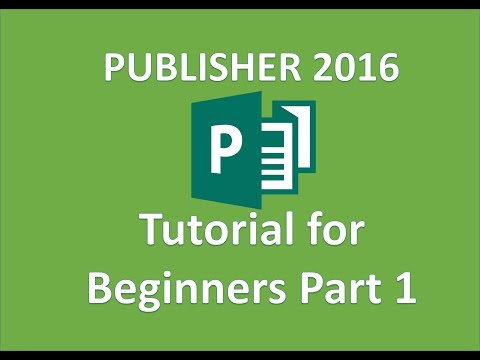 Publisher 2016 - How To Use Microsoft Publisher - Full Tutorial In MS Office 365 For Beginners On PC