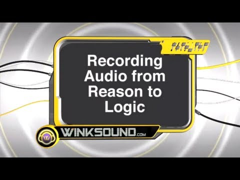 Logic Pro: Recording Audio from Reason to Logic | WinkSound