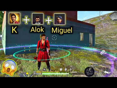 K + DJ Alok + Miguel | Tips and Tricks For New Character K - Best Skill Combination Free Fire.