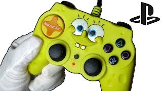 SpongeBob Squarepants Controller Unboxing! Playstation 2 Gamepad