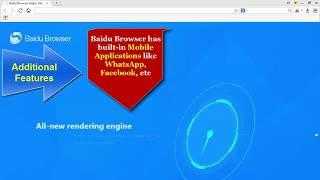Baidu Browser vs Google Chrome video review