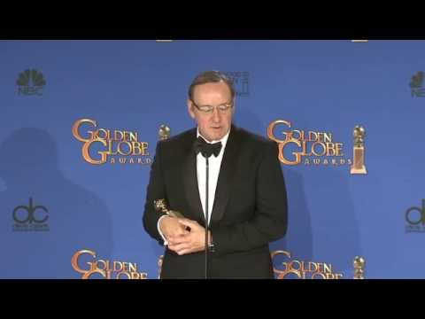 Kevin Spacey: Golden Globe Awards Backstage Interview (2015)
