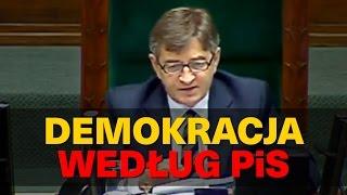 Demokracja według PiS.