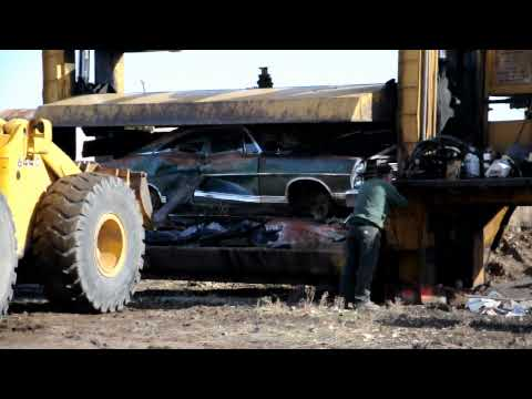 1967 Ford Galaxie Fastback  crushed for scrap