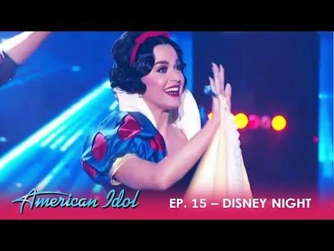 Disney Night: Katy Perry SURPRISE Intro As Disney Princess | American Idol 2018