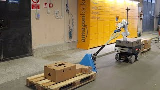 A Collaborative Robotic Approach to Autonomous Pallet Jack Transportation and Positioning