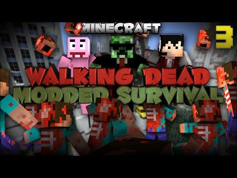 "Minecraft Walking Dead Mod Pack ""We found a TANK"" | Ep 3"