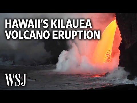 Lava Pours Steadily From Hawaii's Kilauea Volcano (видео)