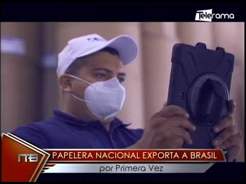 Papelera Nacional exporta a Brasil por primera vez